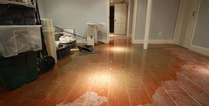 Basement Flood In Need Of Water Damage Remediation