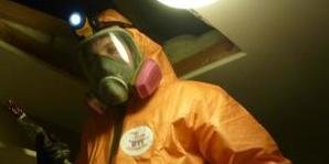 Technician in Mold Removal Gear